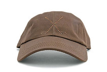 Dolly Mama Ladies Baseball Hat - Large Crossed Clubs on Chocolate