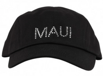 Dolly Mama Ladies Baseball Hat - Maui on Black