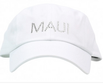 Dolly Mama Ladies Baseball Hat - Maui on White