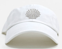 Dolly Mama Ladies Baseball Hat - Shell on White