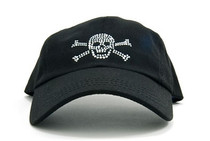 Dolly Mama Ladies Baseball Hat - Skull & Crossbones on Black