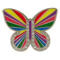 Druh Belts: Rainbow Butterfly Buckle