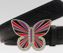 Druh Belts: Red Black and Purple Butterfly Buckle