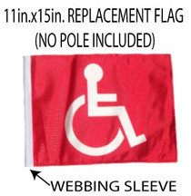 SSP Flags: 11x15 inch Golf Cart Replacement Flag - Red Handicap