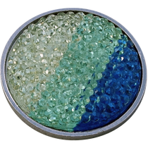 ReadyGolf: Rhinestone Crystal Ball Marker - Blue, Aqua & White