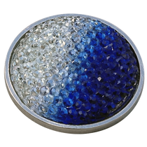 ReadyGolf: Rhinestone Crystal Ball Marker - Blue & White