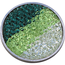 ReadyGolf: Rhinestone Crystal Ball Marker - Green, Lime & White