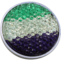 ReadyGolf: Rhinestone Crystal Ball Marker - Green, White & Purple