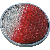 ReadyGolf: Rhinestone Crystal Ball Marker - Red & White
