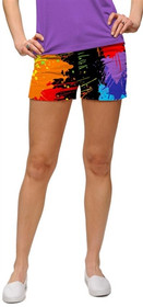 Loudmouth Golf: Women's Mini Shorts - Paint Balls