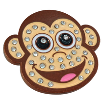 ReadyGolf: Monkey with Crystals Ball Marker & Hat Clip