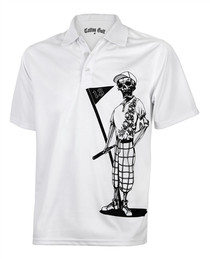 Tattoo Golf: Men's Performance Mr. Bones Golf Polo - White