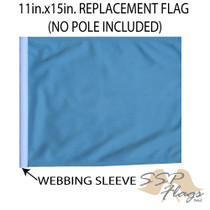 SSP Flags: 11x15 inch Golf Cart Replacement Flag - Light Blue/Sky Blue