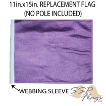 SSP Flags: 11x15 inch Golf Cart Replacement Flag - Purple