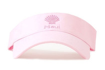 Dolly Mama Ladies Sporty Visor - Maui Shell on Pink