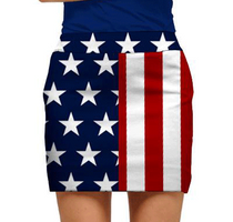 Loudmouth Golf: Women's Skort - Stars & Stripes (SALE)