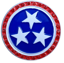 ReadyGolf: Tennessee Flag Ball Marker & Hat Clip with Crystals