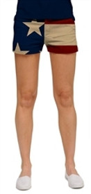 Loudmouth Golf Womens Mini Shorts - Old Glory  - Size 0