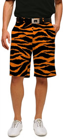 Loudmouth Golf: Men's Shorts - Orange & Black Tiger Stripes