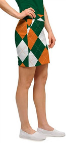 Loudmouth Golf: Womens Skort - Orange & Green Argyle*