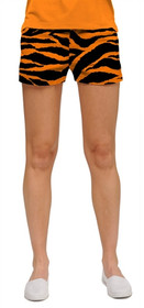 Loudmouth Golf: Women's Mini Shorts - Orange & Black Tiger Stripes*