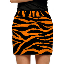 Loudmouth Golf: Women's Skort - Orange & Black Tiger Stripes