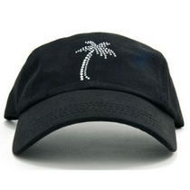Dolly Mama Ladies Baseball Hat - Palm Tree on Black