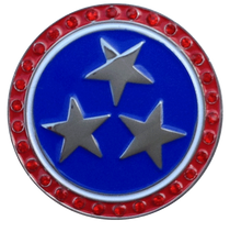 ReadyGolf: Patriotic Stars Ball Marker & Hat Clip with Crystals