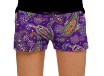 Loudmouth Golf: Women's Mini Shorts - Pazeltine