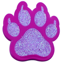 ReadyGolf: Glitter Ball Marker & Hat Clip - Cat Paw Print (Pink)