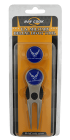 U.S. Air Force Military Deluxe Divot Tool Ball Marker Combo by Hotz Golf