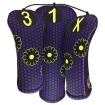 BeeJos: Golf Head Cover - Whimsical Purple Dot Print