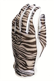 Evertan: Women's Tan Through Golf Glove - Zebra