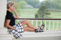 Sandbaggers: Women's Golf Sandals - Galia Black
