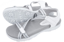Sandbaggers: Women's Golf Sandals - Galia White