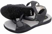 Sandbaggers: Women's Golf Sandals - Grace Black