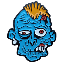 ReadyGolf: Zombie Ball Marker & Hat Clip - Blue