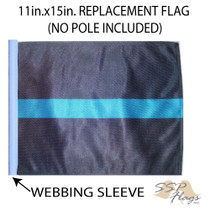 SSP Flags: 11x15 inch Golf Cart Replacement Flag - Thin Blue Line
