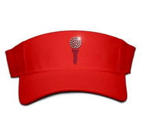Titania Golf: Women's Velcro Visor - Ball and Tee