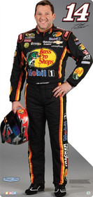 Team Image: Miniature Cardboard Cutout - Tony Stewart #14 Bass Pros Shops