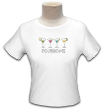 Titania Golf: Women's Rhinestone Golf Tee Shirt - Foursome