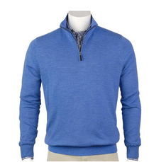 Fairway & Greene: Men's Baruffa Merino Quarter Zip Sweater