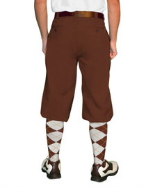 Golf Knickers: Men's 'Par 4' Cotton/Ramine Golf Knickers - Brown