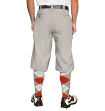 Golf Knickers: Men's 'Par 4' Cotton/Ramine Golf Knickers -Taupe