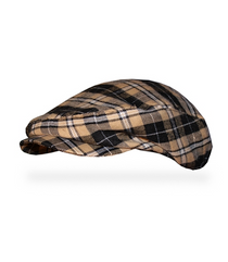 Golf Knickers: Men's 'Par 5' Plaid Golf Knickers & Cap - Bayou