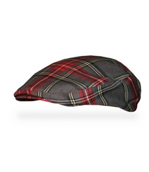 Golf Knickers: Men's 'Par 5' Plaid Golf Knickers & Cap - Highland
