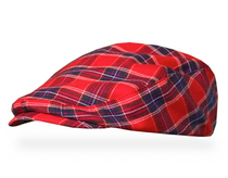 Golf Knickers: Men's 'Par 5' Plaid Golf Knickers & Cap - Newcastle