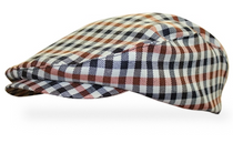 Golf Knickers: Men's 'Par 5' Plaid Golf Knickers & Cap - Saratoga