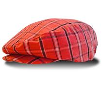 Golf Knickers: Men's Limited Edition Plaid Golf Knickers & Cap - Red