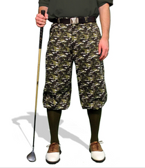 Golf Knickers: Men's Camo Series Golf Knickers & Cap - Woodland Camo